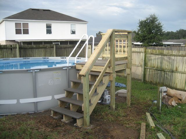 My Intex 16x48 With Custom Deck And Stairs